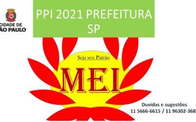 Prefeitura de São Paulo institui o PPI 2021